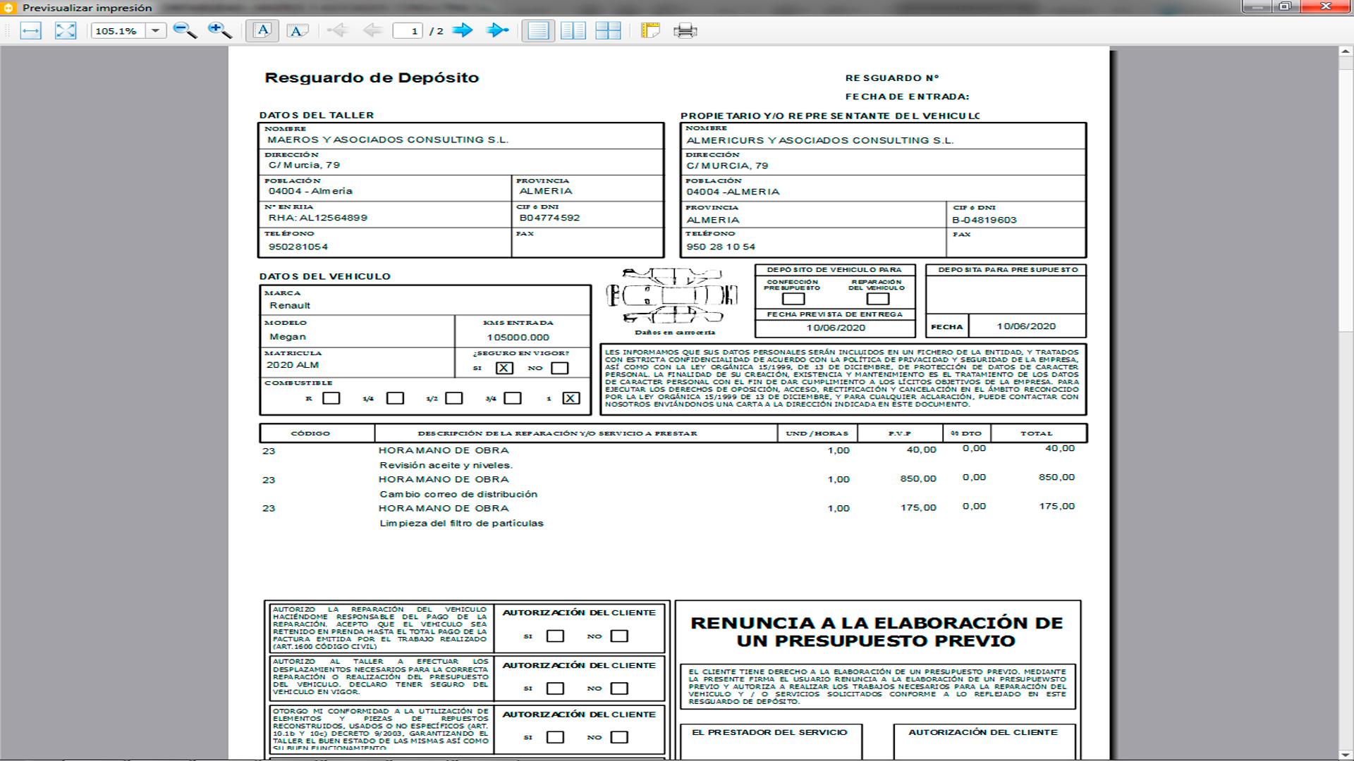 Maresoft ERP Talleres (Impresos oficiales)